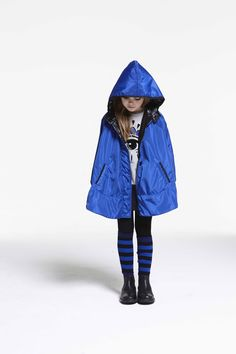 Electric blue and also emerald were strong colours for kidswear fall 2016, here by Kenzo