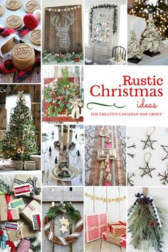 Rustic Christmas Ideas. A collection of FABULOUS DIY Rustic Christmas home decor ideas and crafts! You MUST check it out! thediydreamer.com