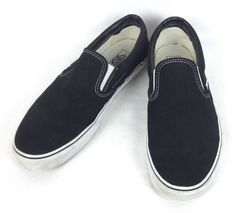 Vans Shoes 11 Mens Black Canvas Casual Loafers #VANS #LoafersSlipOns