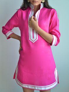 hot pink beach tunic