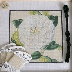 Excited to see what this Camellia is going to look like stitched!