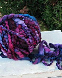 Handspun Art Yarn  Hand Dyed Superwash Merino Wool Yarn