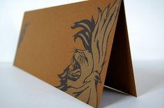 Golden Lion: Letterpress Printed Folded Card, by LionOfBali on Etsy, $5.50
