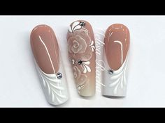 UÑAS ACRILICAS NUDE MATE PARA NOVIA/WEDDING BRIDAL NAILS - YouTube