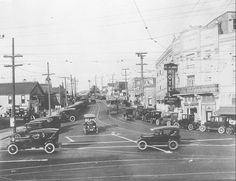 """The El Ja Arms, """"The Perfect Hotel,"""" near the corner of Diamond Street and Pacific Avenue in Daily Breeze file photo. Note the Red Car coming down the middle of Diamond Street. Redondo Beach Pier, South Bay Area, Surf City, Los Angeles County, Huntington Beach, Historical Photos, Surfing, Arms, Street View"""