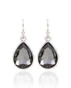 a0d695357788d0 Black Crystal Teardrop Earrings Black Crystals