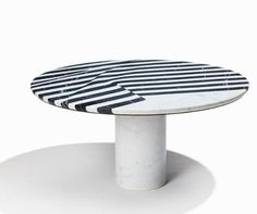 Milan mood board: the first trend to come out of Milan Design Week: Matter of Stuff Veiled side table by Olga Bielawska. Earthy, Furniture Design, Mood, Milan Design, Tables, Lounge, Stripes, Club, Style
