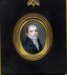 Ruby Lane: retrato de alrededor de 1800.