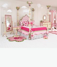 For little girls who dream in pink! Meet the Rosie Sweet furniture collection with Posie Pop bedding!