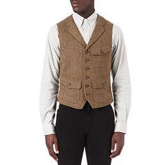 Set the bar high get a tweed waistcoat one will look very dapper