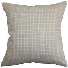 Give your room a homey vibe by adding this plush decor pillow. This throw pillow lends a contemporary charm to your interiors with its plaid pattern in natural hues. The subtle color can easily be paired with other hues and patterns. Make this square pillow the statement piece for your living room, bedroom or lounge area. This pillow is made from 100% pure cotton making it soft and plush. $55.00  #pillows #accentpillow #plaid