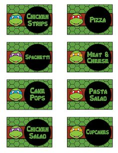 Hey, I found this really awesome Etsy listing at https://www.etsy.com/listing/203273470/teenage-mutant-ninja-turtles-food-buffet