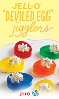 Whoever thought deviled eggs with no paprika and no eggs would be the best Easter dish ever is a genius. Have you tried these yet? They're so easy, what's stopping you? Just grab some JELL-O® and COOL WHIP and you're practically done.