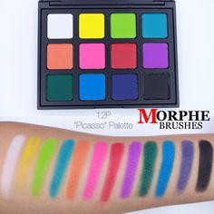 "@morphebrushes 12P ""Picasso"" Palette    #makeup #swatches #eyeshadow #morphe #morphebrushes #12p #morphe12p #palette"