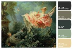 Color palettes from famous paintings