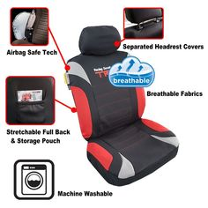 full set, 9 pcs, split rear seat covers Toyota Tacoma Seat Covers, Sports Brands, Trd, Rear Seat, Pouch, Full Set, Storage, Purse Storage, Sachets