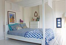 Ikea Hack, Bett malm in ein Himmelbett - Hesters Handmade Home, Ikea Lit Malm, Ikea Hack Lit, Ikea Hacks, Ikea Bed Frames, Malm Bed Frame, Ikea Canopy Bed, Ikea Bedroom Furniture, Bedroom Hacks, Bedroom Ideas