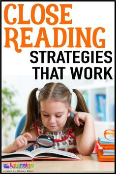 Interested in doing close reading in your classroom, but don't know where to start? Learn strategies that work and keep students engaged! Reading Stations, Reading Centers, Reading Groups, Reading Workshop, Guided Reading, Teaching Reading, Reading Comprehension, Teaching Kids, Reading Lessons
