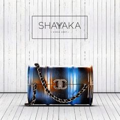 Chanel Paris-Dallas 2014 Collection | Evening Barrel Bag | Plexiglas and Metal | Blue | Available Now for Pre Order  For inquiries, please contact sales@shayyaka.com or +961 71 594 777 (Call, SMS, WhatsApp, or iMessage) or Direct Message on Instagram (@Shayyaka). Guaranteed 100% Authentic | Worldwide Shipping | Credit Cards or Bank Transfer