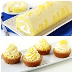 Enjoy one of these tart and sweet desserts. Make a lemon cake roll or a batch of  Triple Lemon Cookie Cups.