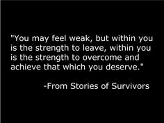 Domestic violence quote, October is awareness month