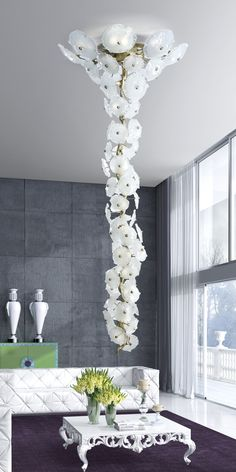 Serip Organic Lighting was made to drop jaws when entering a room. These lighting designs are NOT for the faint -hearted designer, but for a designer who wants to make a statement that will never leave the mind. This chandelier is pure decadence.