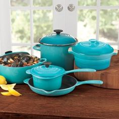 Amazon.com: Love Le Creuset 9-Piece Cookware Set: CARIBBEAN: Kitchen & Dining-in any color...