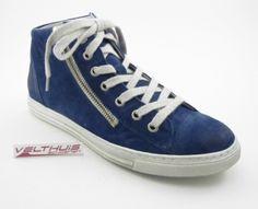AQA A2106 Dames comfort Sneaker  kleur Blauw  materiaal Nubuck leer bestel je online via de webshop: velthuisschoenen.nl