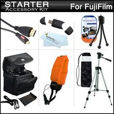 "Starter Accessories Kit For Fuji Fujifilm FinePix XP170, XP150, XP100 Waterproof Digital Camera Includes Deluxe Carrying Case + 50"" Tripod w/ Case + Micro HDMI Cable + USB 2.0 Card Reader + Float Strap + Mini TableTop Tripod + MicroFiber Cloth + by ButterflyPhoto. Save 50 Off!. $24.95. Product DescriptionThis Kit Includes Some Of The Essential Accessories You Need To Take Full Advantage Of Your New Fuji Fujifilm FinePix XP170, XP150, XP100 CameraKit Includes:♦ 1) Zeikos - (6FT..."