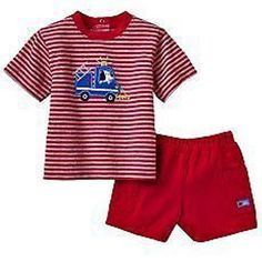 NWT Baby Boys Carter's Fire Truck Red Tee & Shorts Set - Size  6 Months #Carters #Everyday