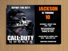 Printable call of duty black ops birthday invitations call of duty call of duty ghosts invitation customizable printable digital invitation filmwisefo