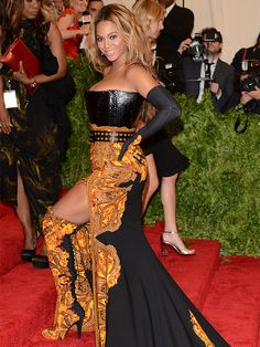 Beyoncé didn't just wear a slit, she put a boot on it when she wore a major Givenchy design to the 2013 Met Gala.