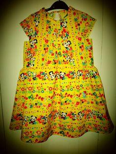 NoodlePips dress. Funky, retro, kitsch, kawaii!
