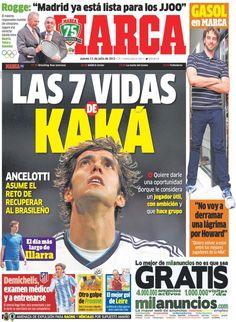 'Las 7 vidas de Kaká' | La portada del 11 de julio de 2013