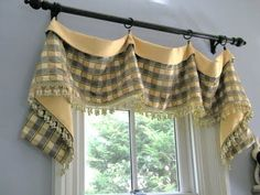 Simple window valance is just two fabrics cut in a rectangle shape… | Spark | eHow.com