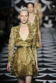 Diane von Furstenberg RTW Fall 2014 - Slideshow - Runway, Fashion Week, Fashion Shows, Reviews and Fashion Images - WWD.com
