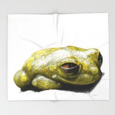 African Frog Throw Blanket