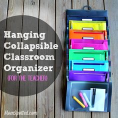 Hanging Collapsible Classroom Organizer {For The Teacher} @MomSpotted