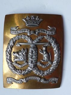 SCOTTISH OFFICERS SHOULDER CROSS BELT PLATE TO A & S HIGHLANDERS  c1880