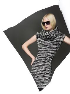 """In this image: Dress (1113V2258); Sunglasses (6OCCU9574). Fall/Winter 2012 United Colors of Benetton woman collection."""