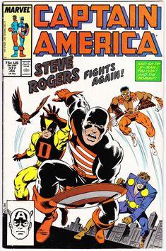 Captain America Jan 1988 Marvel Comic Book Steve Rogers Falcon Nomad D-Man Captain America Comic Books, Captain America Costume, Marvel Captain America, Marvel Comic Books, Comic Books Art, Book Art, Marvel Characters, Book Characters, Jack Kirby