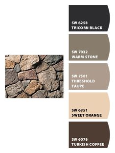 Paint colors from Chip It! by Sherwin-Williams (Chardonnay Dressed Fieldstone by culturedstone.com)