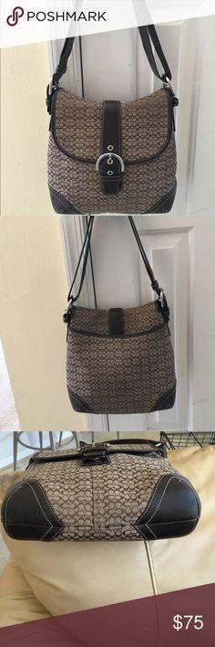 "Spotted while shopping on Poshmark: FINAL PRICE Signature ""C"" Leather Duffle bag! #poshmark #fashion #shopping #style #Coach #Handbags"