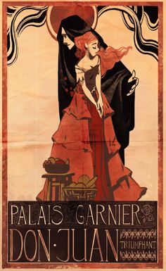 PHANTOM OF THE OPERA #19 Posters of Paris A nice break from doing bunch of paintings and drawings! Posters are mainly inspired by Mucha, Jules Chéret and other artists from similar time period.