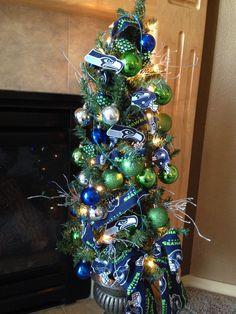 Seattle Seahawks christmas tree