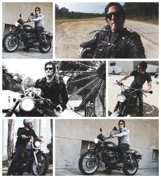 Norman Reedus. . . i officially want a motorcycle now.