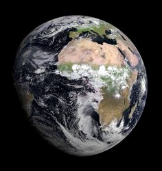 A photograph of Planet Earth taken on August 7th by the new Meteostat Second Generation (MSG-3) satellite.
