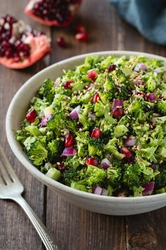 Fresh, crunchy, and full of flavor: this broccoli chopped salad is the perfect way to eat your veggies and liven up any summer meal ...Broccoli might just be one of the most under-appreciate vegetables I can think of.