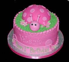 1st birthday pink ladybug cake by Simply Sweets, via Flickr