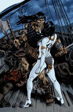 Conan y Red Sonja Fantasy Heroes, Fantasy Characters, Sci Fi Fantasy, Conan O Barbaro, Vikings, Detective, Heavy Metal Art, Conan Comics, Savage Worlds